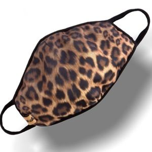 NEW USA Leopard Cheetah Animal Cat Lover Face Mask